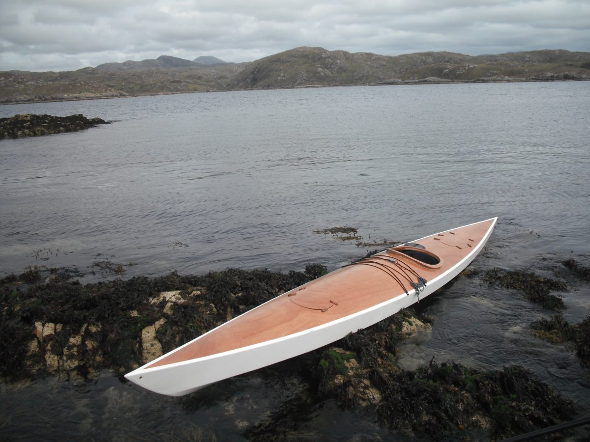 17.5' Sea Kayak. Plywood.