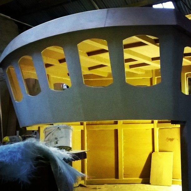 Fishing boat wheelhouse. New build.