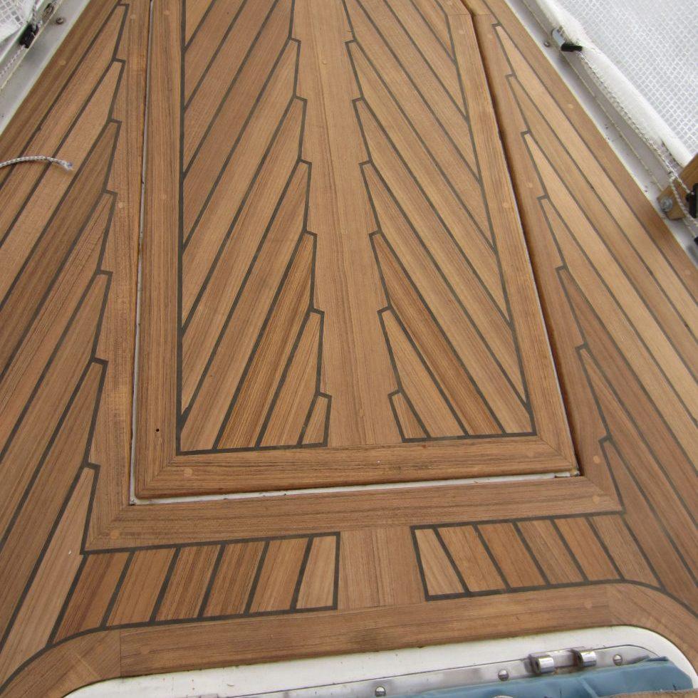 New teak Deck on GRP yacht
