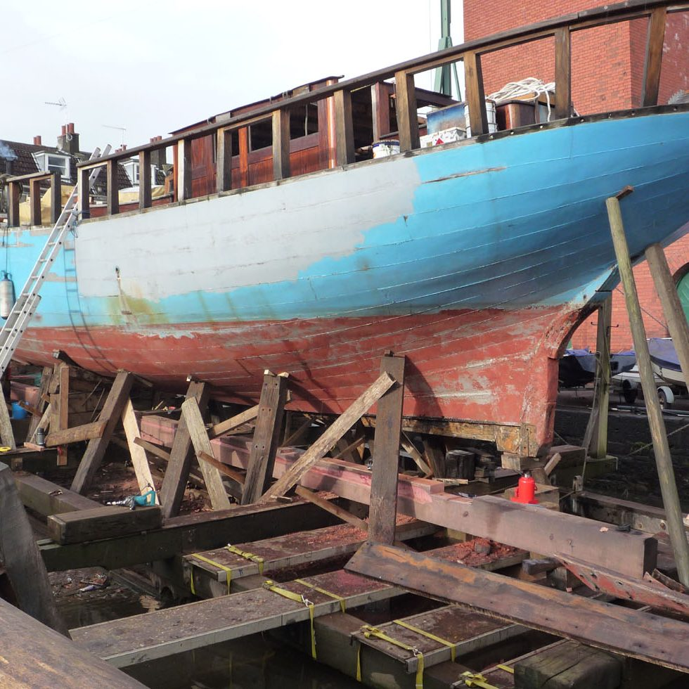 New keel for the Leason - Danish Cotter