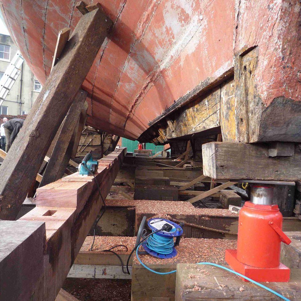 Big keel replacement.