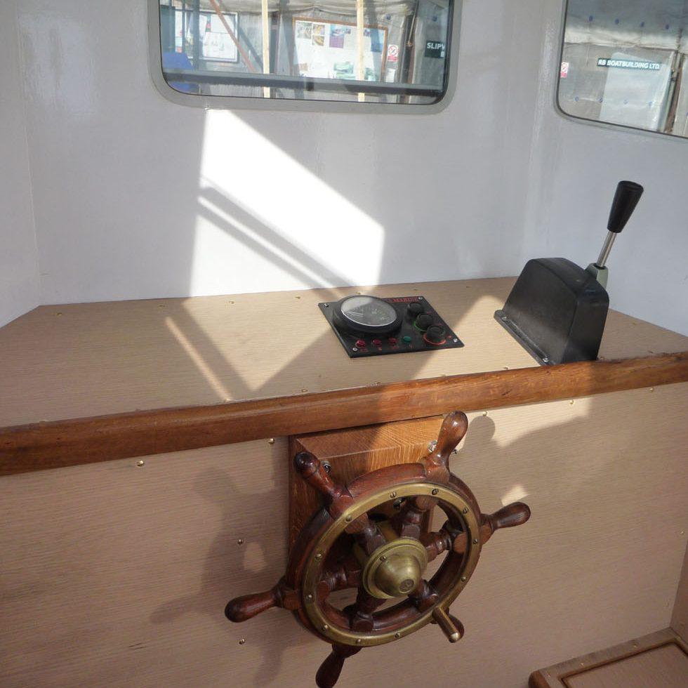 Inside Girl Lauren's wheelhouse